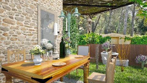 Rustic chic outdoor - Garden - by Corrina Louise