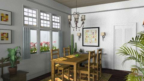 Newport Beach Dining Room3 - Vintage - Dining room  - by LizyD