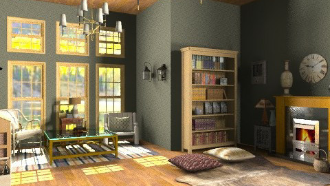 Dual Spires - Rustic - Living room  - by PennyDreadful