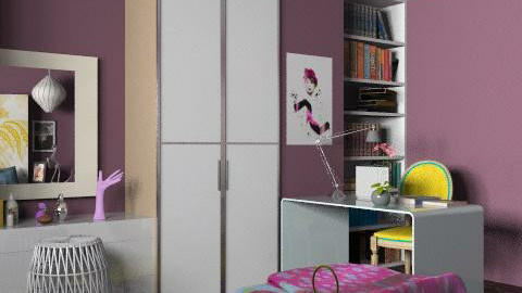 Charlotte10 - Purple 2 - Glamour - Bedroom  - by AlSudairy S