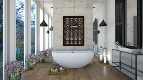 Symmetrical Bathroom - Modern - Bathroom  - by Emily Bennett