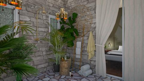 Outdoor Shower  - Rustic - Bathroom  - by Kendal Peterson