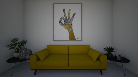 Yellow and Black Art Deco - Modern - Living room  - by runner121