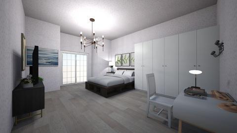 My bedroom - Retro - Bedroom  - by CLINTON NGUYEN