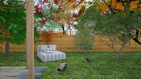 Green Backyard Contest MB - Modern - Garden  - by matildabeast