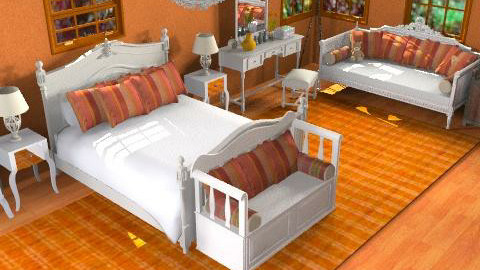 orange - Country - Bedroom  - by Cejovic Andrijana
