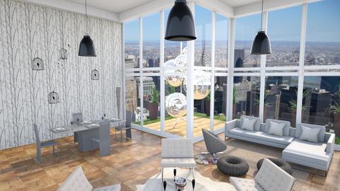 Lots of Whiteness - Minimal - Living room  - by jupitervasconcelos