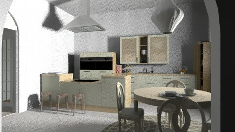 kitchen first floor - Eclectic - Kitchen  - by ketrinka