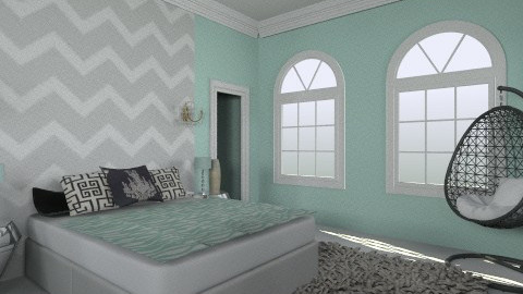 bed and bath  and closet - Modern - Bedroom  - by macy486