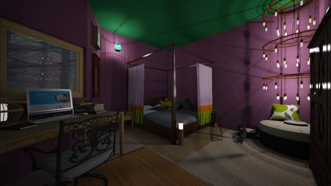 Chandelier_deco - Eclectic - Bedroom  - by PAPIdesigns