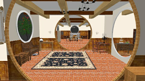 Hobbit Home - Country - Living room  - by frodo2002