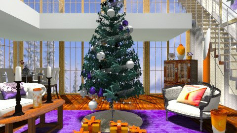 The Christmas Great Room - Eclectic - by wiljun