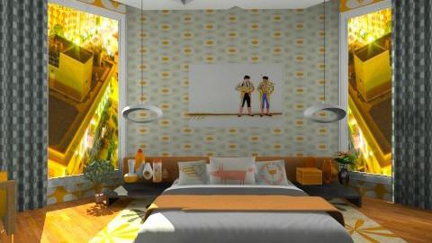 tangy - Retro - Bedroom  - by aduropluvia