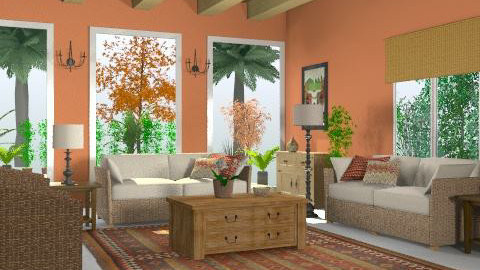 mexicanroomterracota1 - Rustic - Living room  - by Gulland