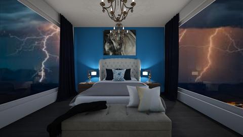 Stormy bedroom - Modern - Bedroom  - by Agamanta