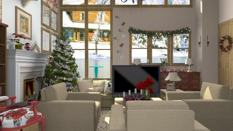 At Christmas Time - Country - Living room  - by Mesha1