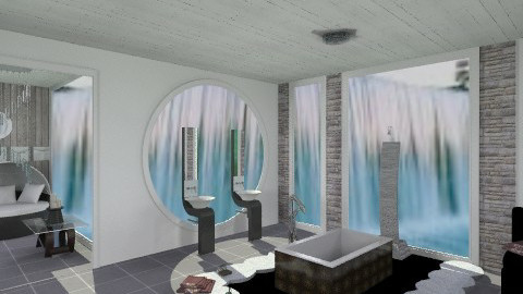 waterfall bathroom - Glamour - Bathroom  - by AshiraLevana