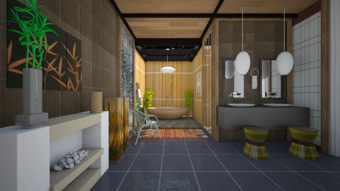 japanese bathroom - Modern - Bathroom - by Evangeline_The_Unicorn