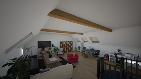 common area upstairs_Male - Living room  - by Malundte