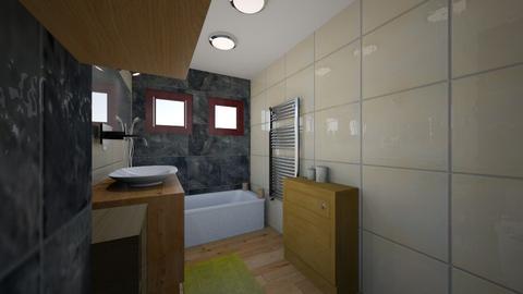 kupelnicka nad zachodom - Bathroom  - by Sojkaaa