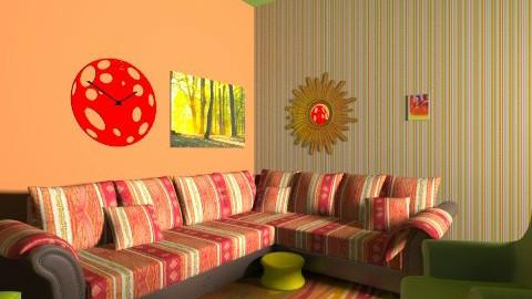 Autumn Living - Rustic - Living room  - by interiordesignmajor013