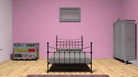 Quarto - Retro - Bedroom  - by Nathalia Ribeiro