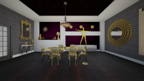Midas Touch - Glamour - Dining room  - by Nicky West