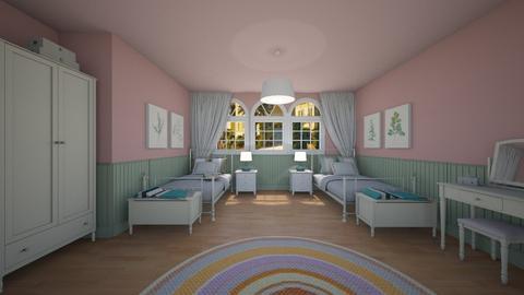 sister room - Country - Bedroom  - by nuray kalkan