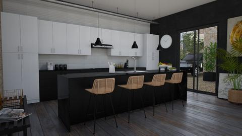 Musta - Kitchen - by Tuija