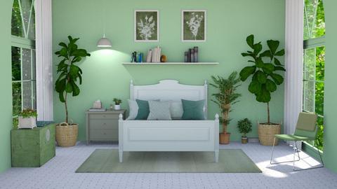 Sage green bedroom - Bedroom  - by ActressHannah