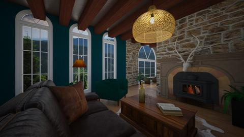 log cabin - Living room  - by karliestarcevich
