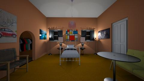 Cheap Hotel Room - Bedroom  - by dylan64553