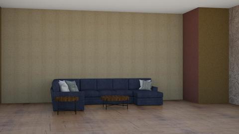 denim and dark wood - Living room  - by Moonpearl