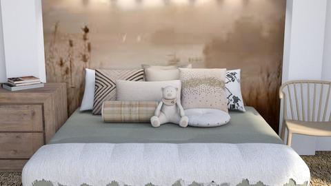 Brown - Eclectic - Bedroom  - by millerfam