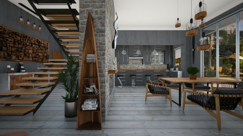 Slate - Dining room  - by Lackew