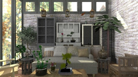 Rustic livng space - Rustic - Living room  - by rosiedoll