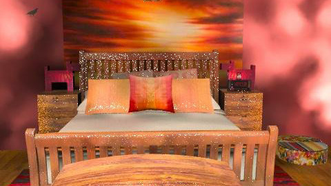 berry sunset4 - Rustic - Bedroom  - by america_lee