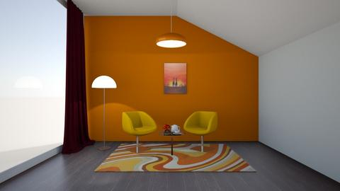 simple series orange  - Rustic - Living room  - by martinini