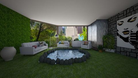 Green Hangout - Modern - Living room - by designcat31