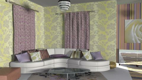gold and mov 1 - Glamour - Living room  - by chania