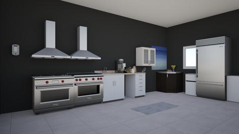 black and white - Kitchen  - by TingoMingo