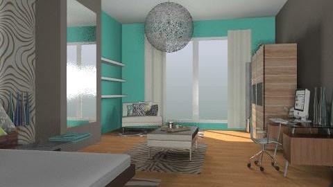 Blue Bedroom version - Eclectic - Bedroom  - by idesine