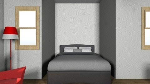 Master Suite - Retro - Bedroom  - by Lizzy Bruin