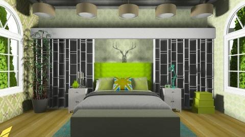 pea - Retro - Bedroom  - by aduropluvia