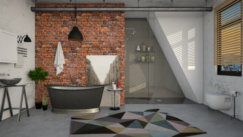 Industrial Bathroom - Bathroom  - by DeborahArmelin