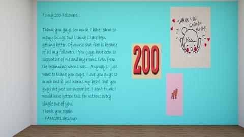 200 FOLLOWERS - by FANGIRLdesigner