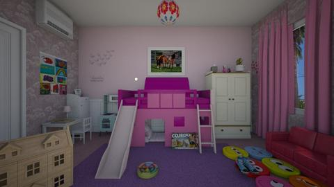 Purple Childrens Room - Kids room - by Irishrose58