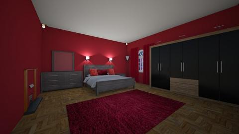 red room - Bedroom - by 17rhughes