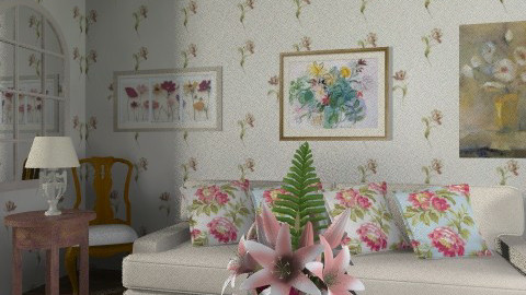 Floral - Classic - Living room  - by milyca8