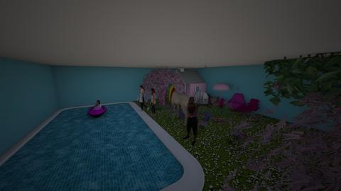 pool party - Classic - Garden - by RAWAN UNICORN